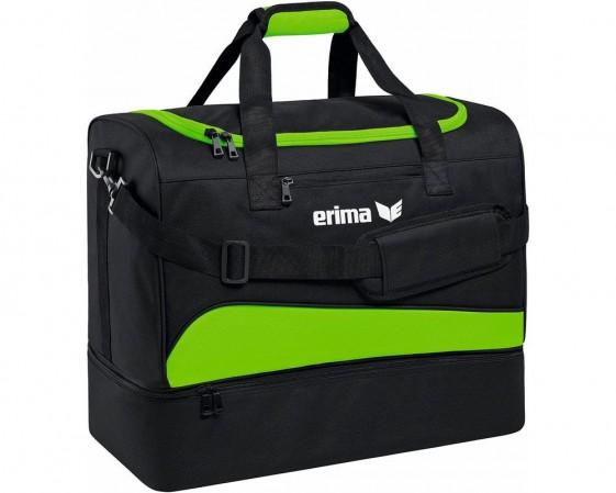 Erima Sporttas Met Bodemvak Groen/zwart