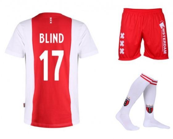 Ajax Voetbaltenue Blind KatoenenThuis Kids-Senior