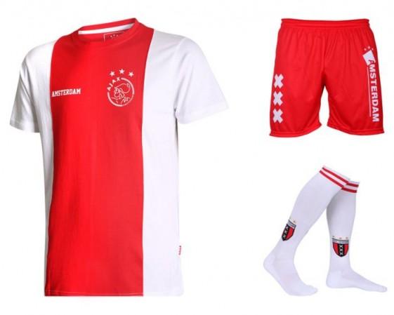Ajax voetbaltenue thuis eigen naam logo Kids katoenen-Senior