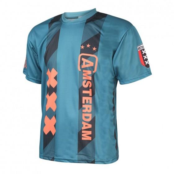 Amsterdam Voetbalshirt Uit Eigen Naam en/of Spelersnaam 2019-2020 Kids-Senior