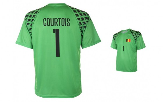 Belgie keepersshirt Courtois 2016-18