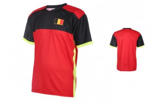 Belgie thuishirt WK 2016-18 met naam en nummer