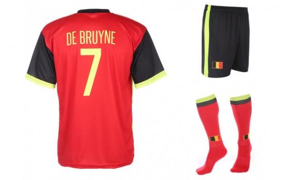Belgie  thuis tenue de Bruyne 2016-18