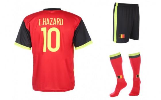 Belgie EK thuis tenue Hazard 2016-18