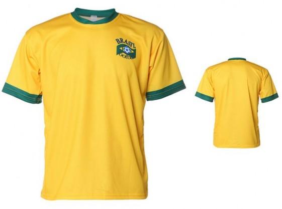 Brazilie shirt met eigen naam 2016-18
