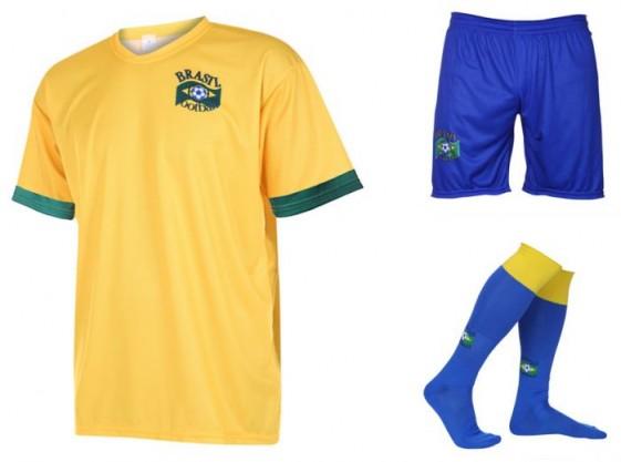 Brazilie thuis tenue met eigen naam 2020-21