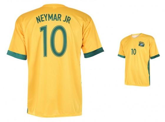 Brazilie -Neymar thuisshirt 2018-20