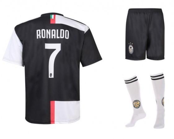 Juventus Voetbaltenue Ronaldo thuis 2019-20