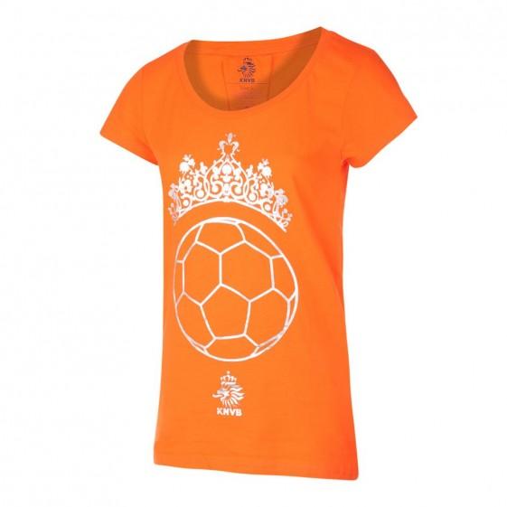 KNVB Leeuwinnen T-shirt DAMES Tiara Bal  Oranje met eigen naam 2020
