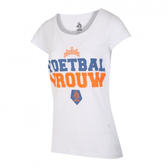 KNVB T-shirt Wit Dames Voetbal Vrouwen 2019-20