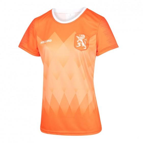 Nederlands Dames thuisshirt met Spelersnaam 2019-20 en 2 gratis stickers