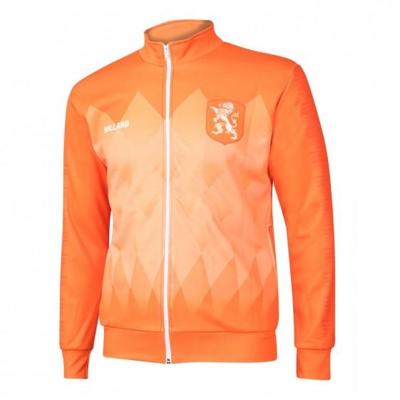 Nederlands elftal trainingsjack thuis Dames-meisjes met eigen naam 2019-21