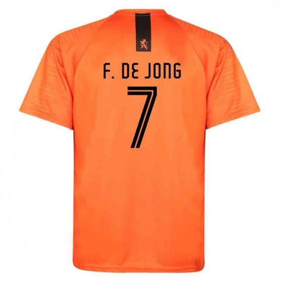 Nederlands elftal thuis shirt de Jong 2018-20