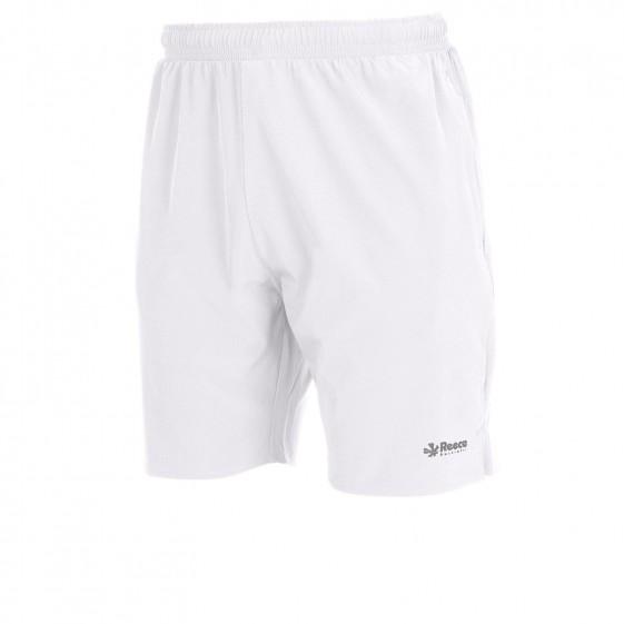 Tennisbroek Wit en Zwart Reece  met club logo