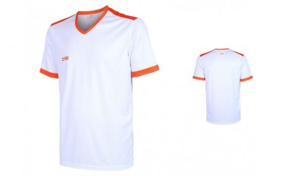 VSK Fly voetbalshirt korte mouw met eigen naam 2020-21 wit/oranje
