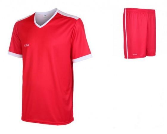 VSK Fly voetbaltenue korte mouw met eigen naam 2020-21 Rood-wit