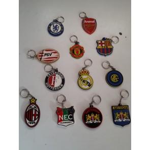 Sleutelhangers van verschillende clubs