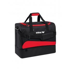Erima Sporttas Met Bodemvak rood/zwart
