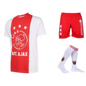 Ajax voetbaltenue eigen naam logo Kids katoenen