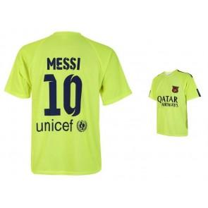 Barcelona-messi champions fluor shirt 2017-18