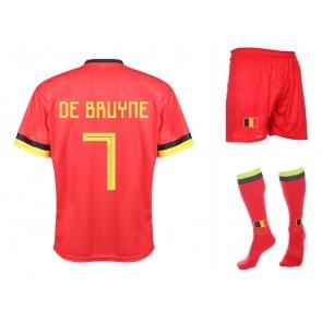 Belgie Voetbaltenue thuis De Bruyne 2020-21 Kids-Senior