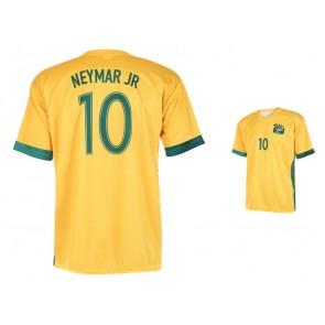 Brazilie -Neymar thuisshirt 2016-18