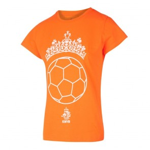 KNVB  Leeuwinnen T-shirt meisjes Tiara Bal  Oranje met eigen naam 2020