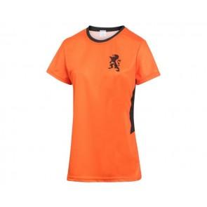 Nederlands Dames Voetbalshirt Thuis Eigen-Naam-Leeuwinnen Oranje Kids -Senior 2021-2022