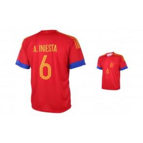 Spanje Shirt Iniesta 2016-18