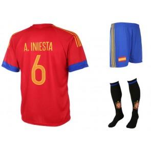 Spanje-Iniesta tenue 2016-18(zonder kousen)