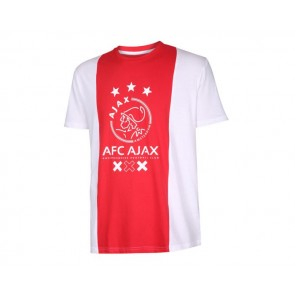 Ajax T-shirt logo kids katoenen met eigen naam
