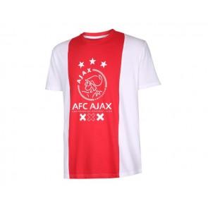 Ajax T-shirt logo senior katoenen met eigen naam