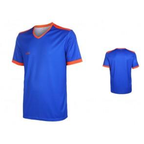VSK Fly voetbaltenue korte mouw met eigen naam 2020-21 Blauw/oranje