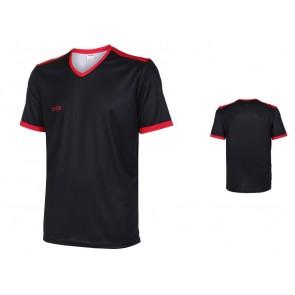 VSK Fly voetbalshirt korte mouw met eigen naam 2017-18 zwart/rood
