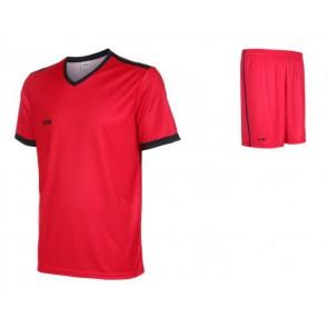 VSK Fly voetbaltenue korte mouw met eigen naam 2020-21 rood/zwart