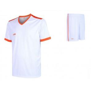 VSK Fly voetbaltenue korte mouw met eigen naam 2020-21 wit/oranje